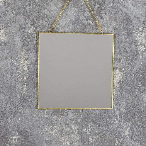 Gold Frame Hanging Mirror