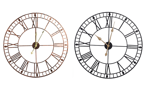 Large Round Roman Numeral Wall Clock