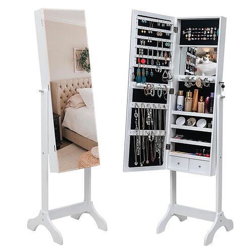Free Standing Mirrored Jewellery Cabinet