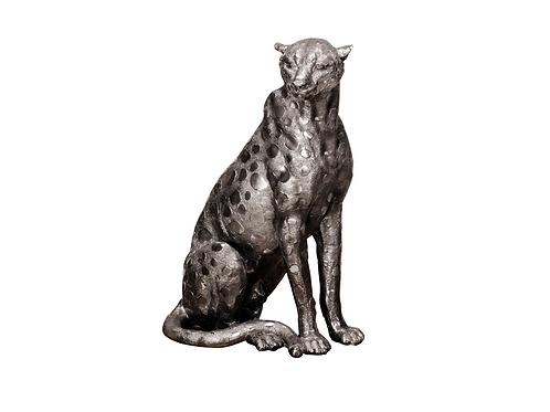 Large Silver Cheetah Ornament