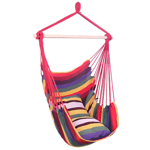 Rainbow Cotton Canvas Hanging Rope Chair