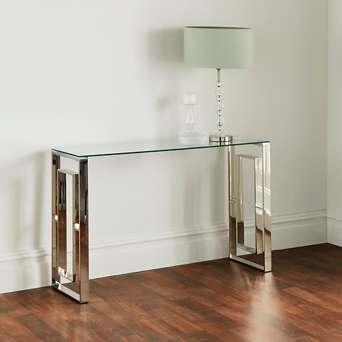 Milano Silver Console Table