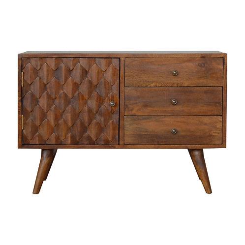 Solid Wood Chestnut Sideboard