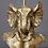 Thumbnail: Antique Gold Elephant Candle Holder Animal Bust Candlestick