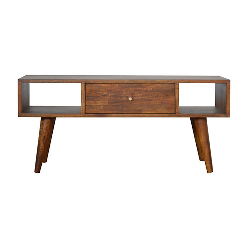 Solid Wood Mixed Chestnut Coffee Table