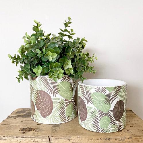 Ceramic Leaf Planter Plant Pot