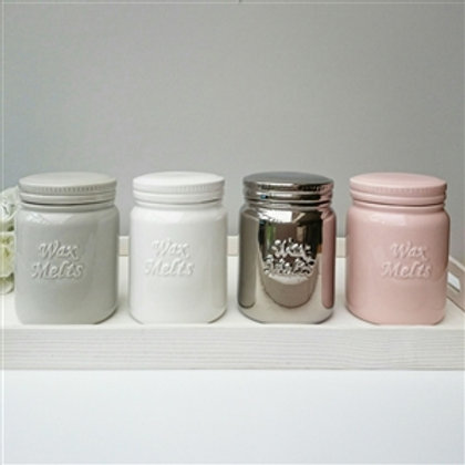 Ceramic Wax Melt Storage Jar