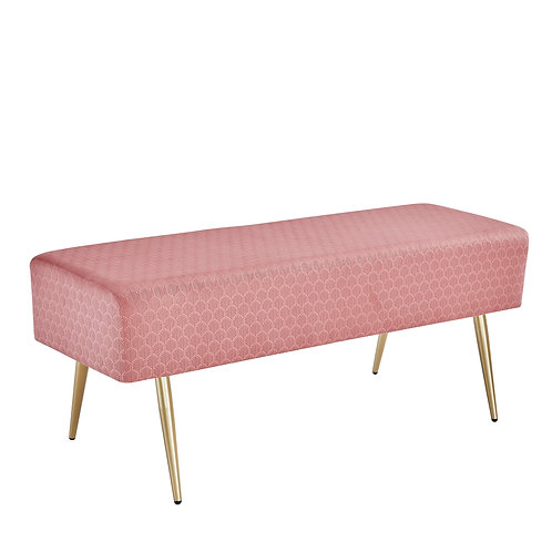 Pink Velvet Bench / Footstool