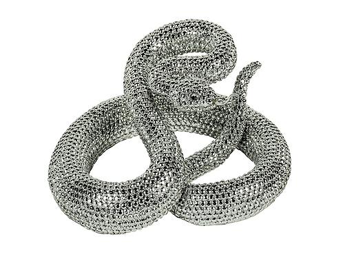 Silver Coiled Rattlesnake Ornament