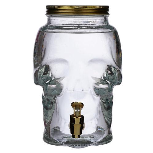 Glass Skull Shaped Drinks Dispenser