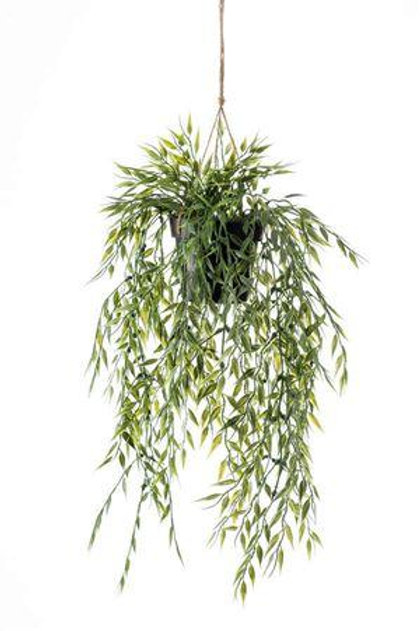 Artificial Bamboo Potted Hanging Plant