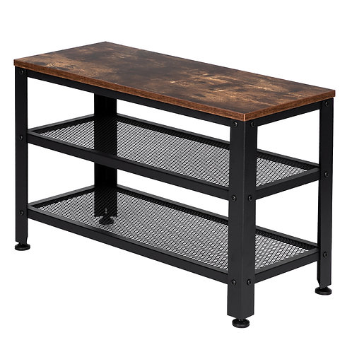 Industrial Style Shoe Bench