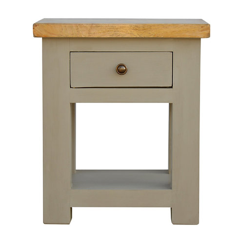 Trackwood Grey One Drawer Lamp Table