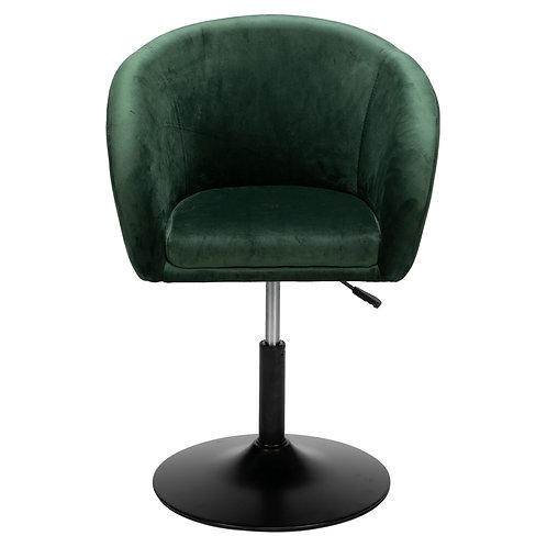 Dark Green Faux Leather Bucket Style Chair