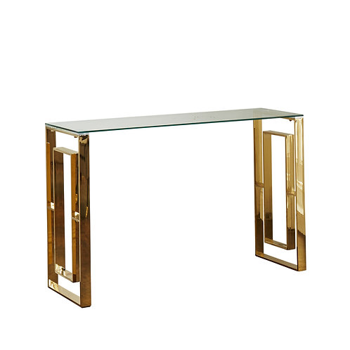Milano Gold Console Table