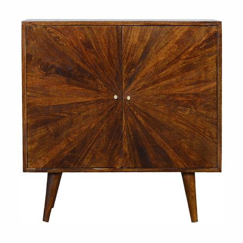 Solid Wood 2 Door Chestnut Cabinet