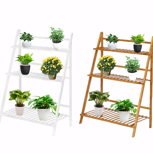 Bamboo Wooden 3 Tier Plant Stand