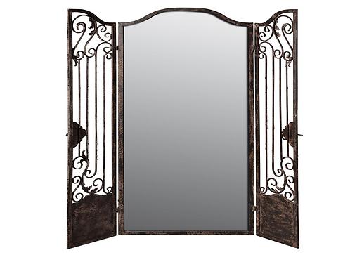 Mirrored Iron Room Divider