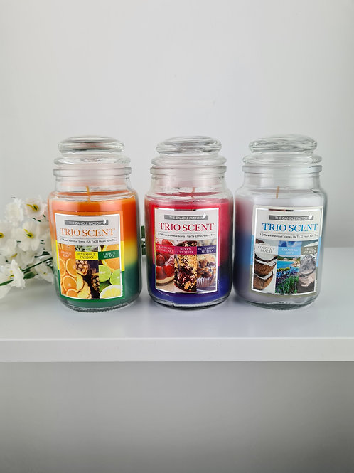 Trio Scent Bell Jar Candle
