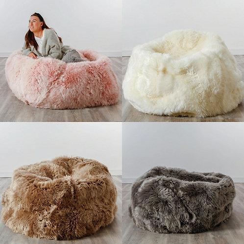 Luxurious Sheepskin Beanbag