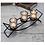 Thumbnail: Black Iron Tea Light Candle Holder - 3 Cup Wave