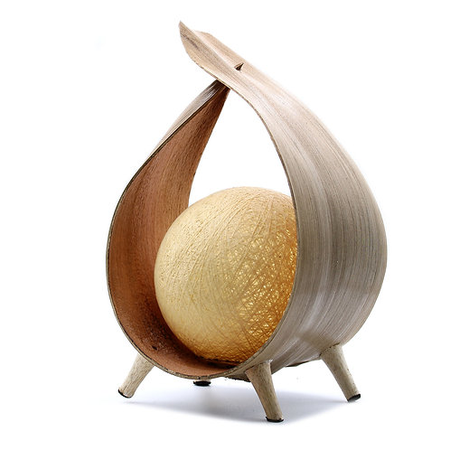Natural Coconut Lamp - Hand Crafted
