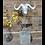 Thumbnail: Buffalo Head Statue On Silver Base