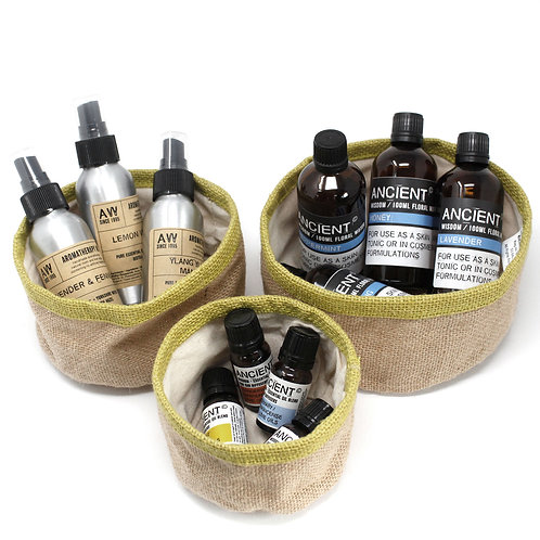 Set of 3 Natural Jute Baskets