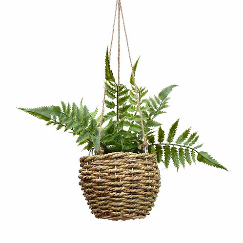 Artificial Potted Hanging Fern Plant
