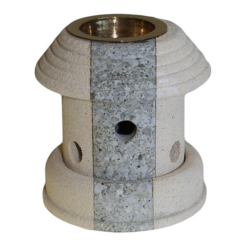 Stone Oil Burner - Combo Lantern