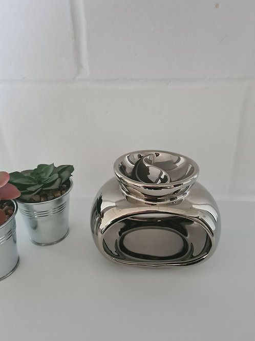 SECONDS Silver Orb Double Dish Wax Melter