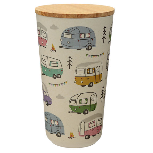 Bamboo Storage Jar - Caravan