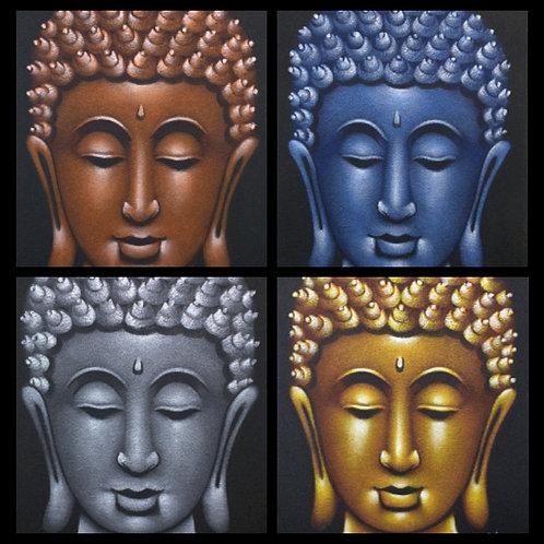 Buddha Head Painting on Canvas