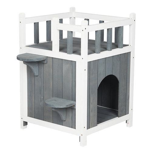 Grey Wooden Pet House