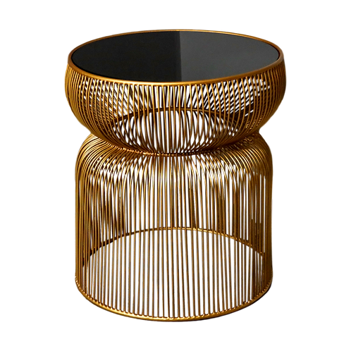 Gold Curve Side Table