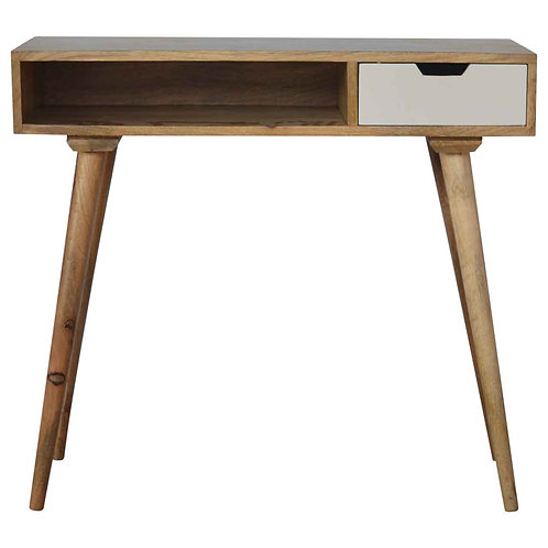 Nordic Style Solid Wood Writing Desk with 1 Drawer