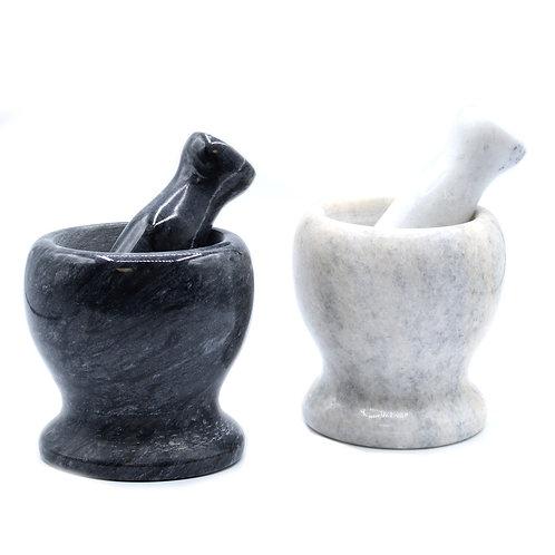 Medium Marble Pestle & Mortar Black or Grey