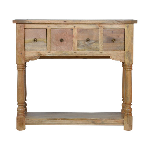 Granary Royale 4 Drawer Solid Wood Console Table
