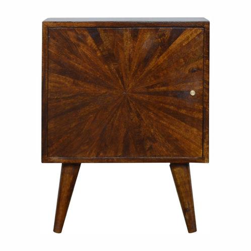 Solid Wood Chestnut Bedside Cabinet