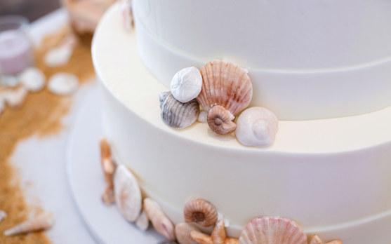 Seashell Svatební dort