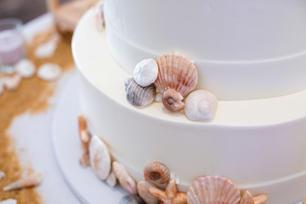 Pastel de bodas concha marina