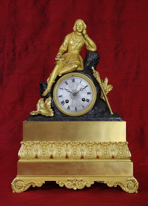 Young Prince with Mace French Clock