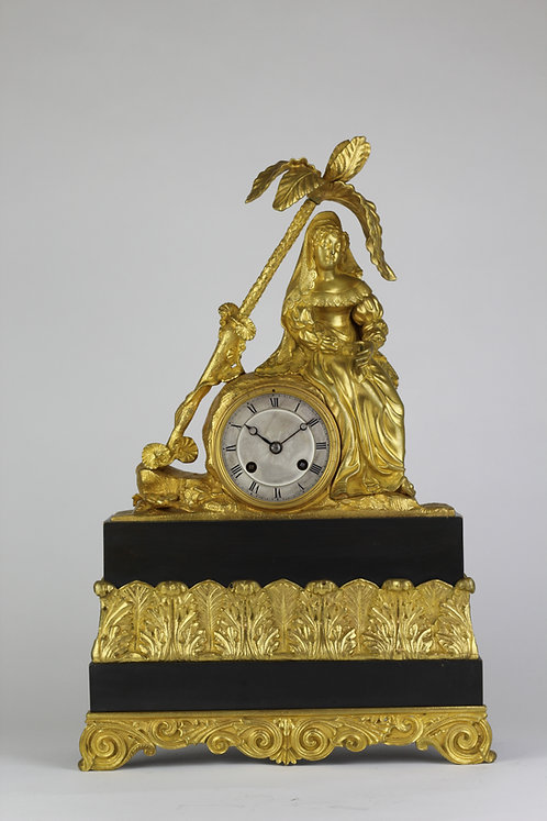 French Mantel Clock of a Lady at her ease circa. 1802