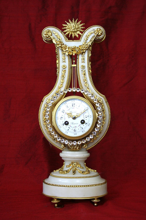 FRENCH LYRE CLOCK CIRCA 1822