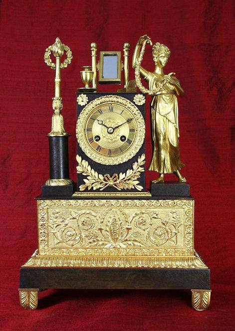 """French Empire """"Beauty"""" Clock"""