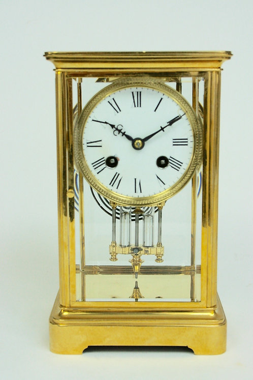 French Gilt Four Glass Regulator Clock circa. 1890