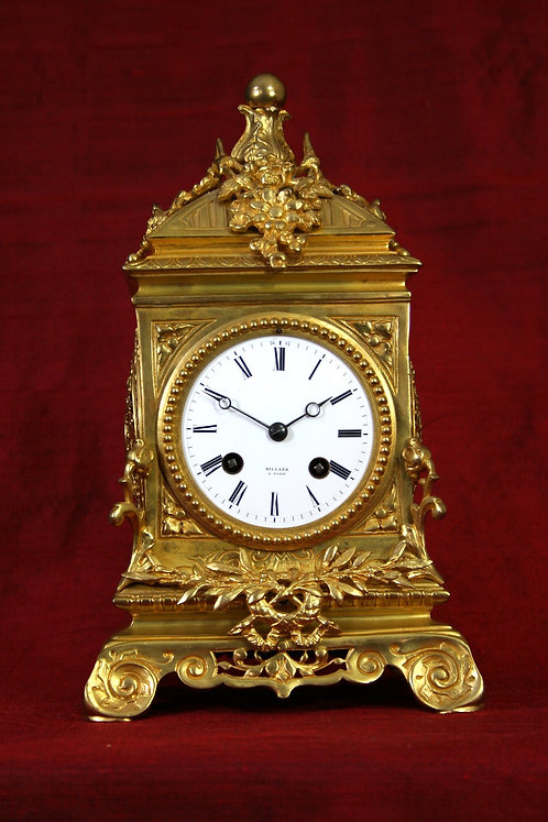 French Gilded Table Clock. circa 1850