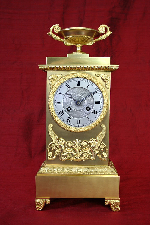 Venetian Lions French Empire Mantel Clock
