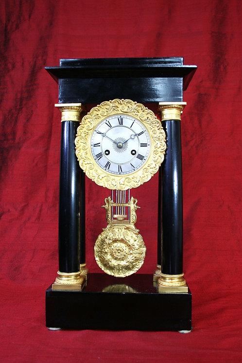 French Four Pillar Portico Clock