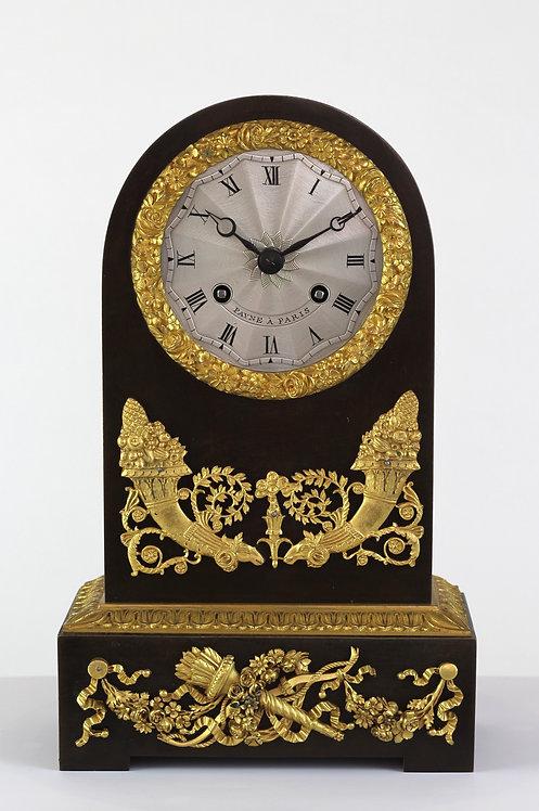 French Bronzed and Ormolu Round Top Mantel clock circa. 1810